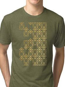 Geometric Gold Tri-blend T-Shirt