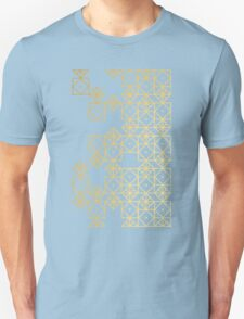 Geometric Gold Unisex T-Shirt