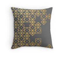 Geometric Gold Throw Pillow
