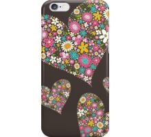 Spring Flowers Valentine Pink Hearts iPhone Case/Skin