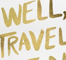 Eat Well, Travel Often – Gold Sticker