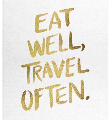 Eat Well, Travel Often – Gold Sticker
