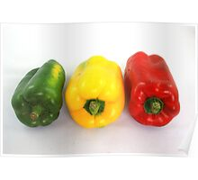 Colorful Bell Peppers Poster