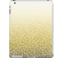 Ombre yellow and white swirls zentangle iPad Case/Skin