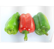 Red and Green Bell Pepper Poster