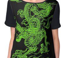Jade Dragon Chiffon Top