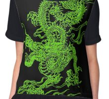 Jade Dragon Chiffon Top