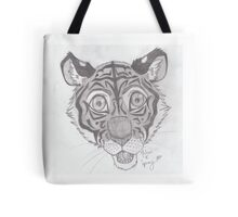 Pencil Tiger Tote Bag