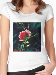 Red Flower New Women's Fitted Scoop T-Shirt