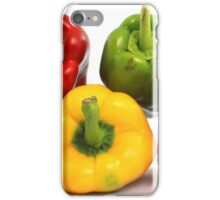 Red Yellow and Green Peppers iPhone Case/Skin