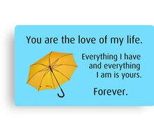 How I Met Your Mother: Yellow Umbrella Canvas Print