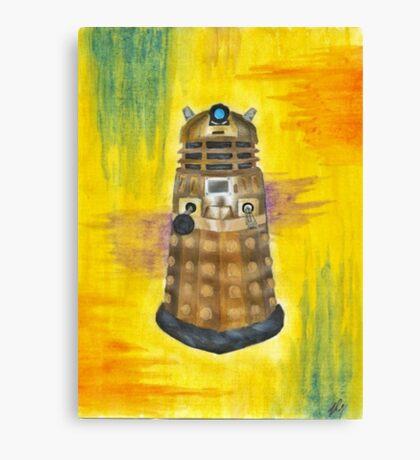 Rainbow Dalek  Canvas Print