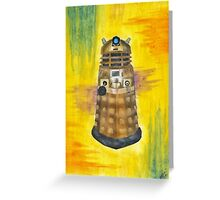 Rainbow Dalek  Greeting Card