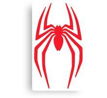 Spiderman Logo vintage style grain faded Canvas Print