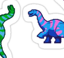 Rainbow Pixelsaurs Sticker