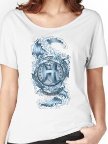 PISCES (Aquamarine) Aquatic Zodiac sign Women's Relaxed Fit T-Shirt