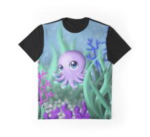 Curious Octopus  Graphic T-Shirt