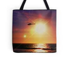 Helicopter Semi-Photobomb Tote Bag