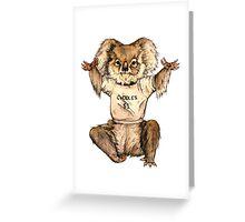 Cuddle Koala Greeting Card