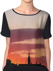 Sunset  - JUSTART ©  Chiffon Top