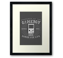Property of the Gameboy Framed Print