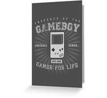 Property of the Gameboy Greeting Card