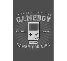 Property of the Gameboy Photographic Print