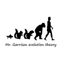 Mr. garrison Evolution Theory Photographic Print