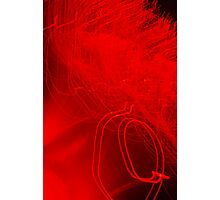 Red neon lights 3 Photographic Print