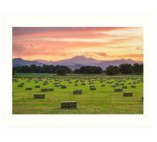 Colorado Farmers Burning Sunset Art Print