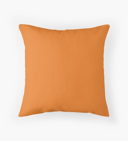 Special Request Orange  (Pantone 158c) Throw Pillow