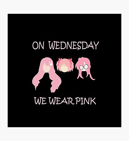 On Wednesday we wear pink Photographic Print