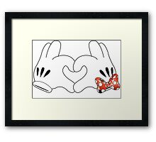 Minnie and Mickey Love Framed Print