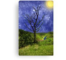 Star-Spangled Tree Canvas Print