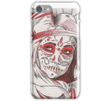 Day of the Dead in Red iPhone Case/Skin