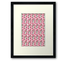 Cute Fruity Water Melon Chunks On Trend Design Framed Print