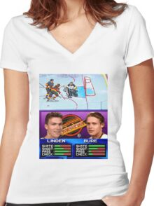 Vancouver Canucks Arcade Shirt  Women's Fitted V-Neck T-Shirt