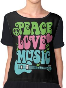 Peace Love Music Chiffon Top
