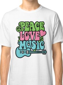 Peace Love Music Classic T-Shirt