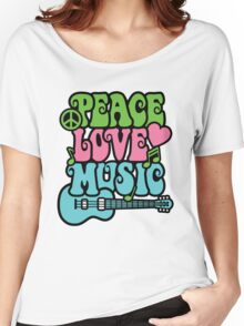 Peace Love Music Women's Relaxed Fit T-Shirt
