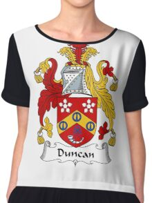 Duncan Coat of Arms / Duncan Family Crest Chiffon Top