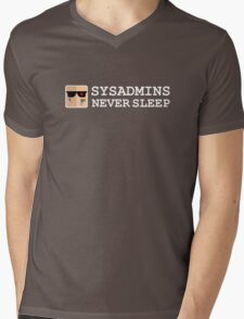sysadmin never sleep term edition Mens V-Neck T-Shirt