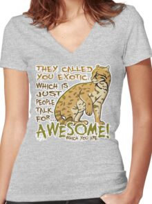 Babou is Awesome Women's Fitted V-Neck T-Shirt