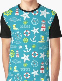 Seamless nautical pattern Graphic T-Shirt