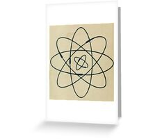 Vintage Physics Atom Greeting Card