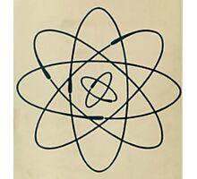Vintage Physics Atom Photographic Print