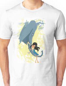 Girl with elephant Unisex T-Shirt