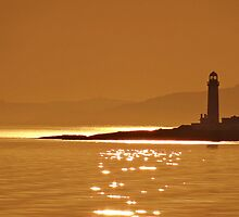 Golden Lismore Lighthouse by youmeus