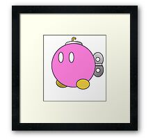 Paper Mario Style Pink Bob-Omb Framed Print