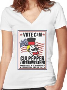 Vote 2016 Women's Fitted V-Neck T-Shirt